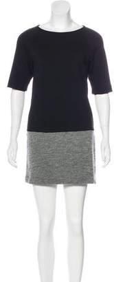 Tibi Short Sleeve Mini Dress