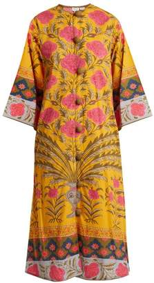 Rhode Resort - Elinv Floral Print Cotton Dress - Womens - Pink Multi