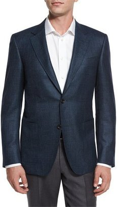 Canali Houndstooth Two-Button Sport Coat, Aqua/Navy $1,595 thestylecure.com