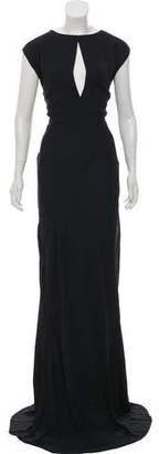 Marni A-Line Cap Sleeve Evening Dress