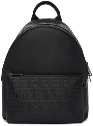 Fendi Black Embossed Forever Backpack