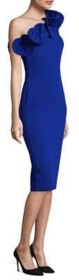 Alberto Makali Ruffle One-Shoulder Dress