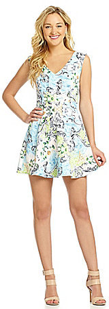 Miss Me Cutout Fit-and-Flare Dress