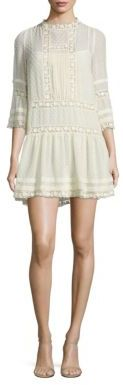 RED Valentino Clip Bell Sleeve Drop-Waist Dress $950 thestylecure.com