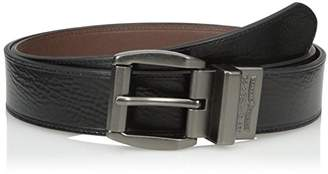 Levi's Men's Big-Tall 1 9/16 Inch Creased-Leather Reversible Belt
