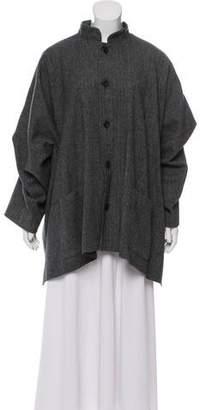 eskandar Wool Herringbone Coat