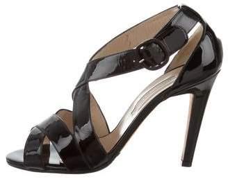 Manolo Blahnik Patent Leather Open-Toe Sandals