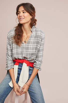 Cloth & Stone Plaid Blouse
