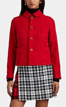 Comme des Garcons Women's Peter-Pan-Collar Crop Jacket - Red