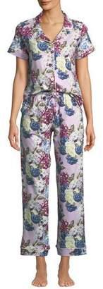 BedHead Floral Jewels Short-Sleeve Long Pajama Set