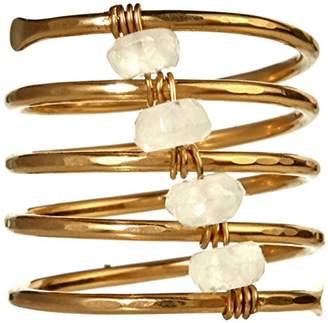 Nashelle Coil 'Shaka' Ring With Moonstone