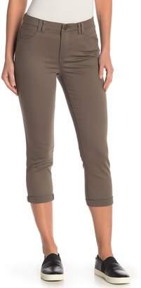 Democracy High Rise Crop Hem Straight Leg Jeans
