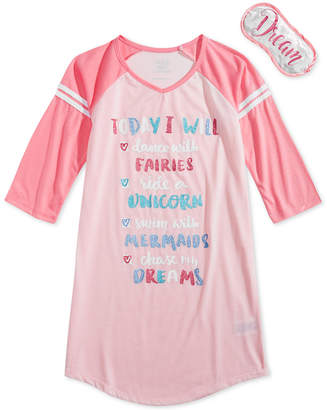 LTB Max & Olivia Graphic-Print Nightgown, Little & Big Girls