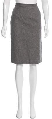 Christian Dior Virgin Wool-Blend Pencil Skirt