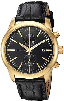 Momentum Men's 'Chronograph Collection' Quartz Gold-Tone and Leather Casual Watch