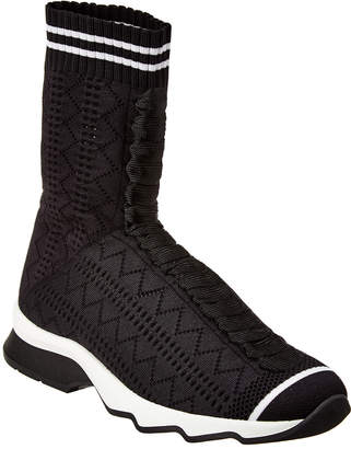 Fendi Runway Fabric Knit Sock Sneaker