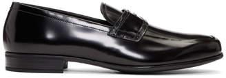 Prada Black Logo Strap Loafers