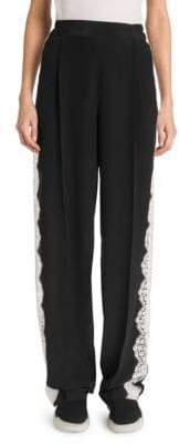 Stella McCartney Lace Insert Wide Leg Pants
