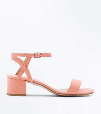 New Look Teens Coral Suedette Block Heel Sandals