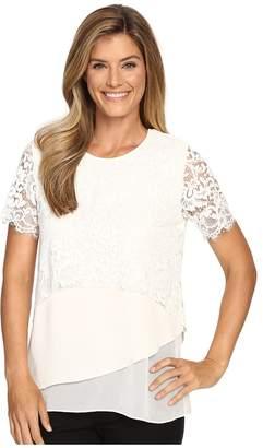 Karen Kane Multi-Layer Lace Top Women's Clothing