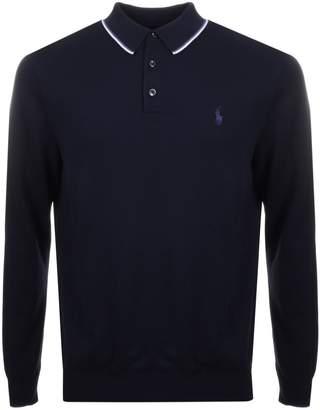 Ralph Lauren Knitted Polo Jumper Navy