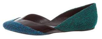 Proenza Schouler Tweed Pointed-Toe Ballet Flats
