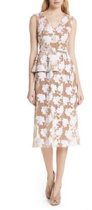 Tracy Reese Half Peplum Floral Dress