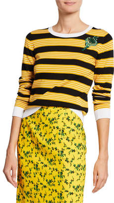 Black And Yellow Striped Sweater Shopstyle
