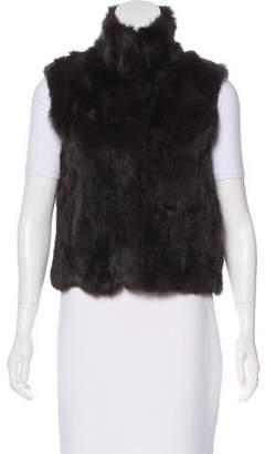 Adrienne Landau Knit Fur Vest