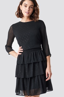Rut & Circle Rut&Circle Glitter Dot Frill Dress Black