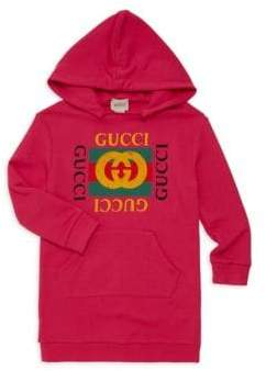 Gucci Little Girl's& Girl's Logo Tunic Hoodie