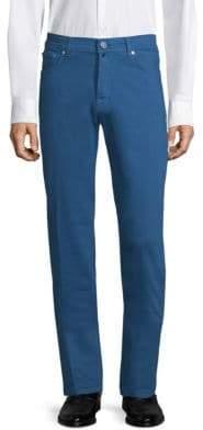 Kiton Men's Straight-Leg Chinos - Beige Khaki - Size 38