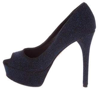 Brian Atwood Embossed Glitter Pumps