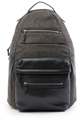 Theory Colorblock Leather Trim Backpack