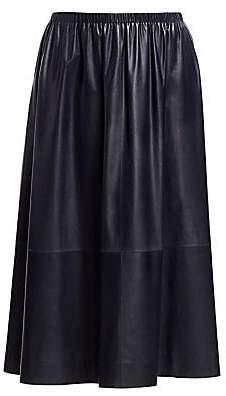 The Row Women's Tilia Leather A-Line Skirt