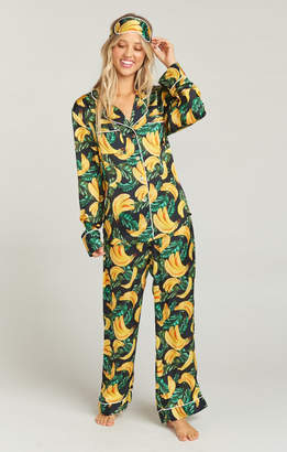 Show Me Your Mumu Paige PJ Set With Eye Mask ~ Gone Bananas 8ec94577a