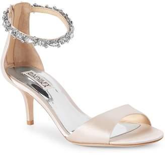 Badgley Mischka Women's Geranium Metallic Leather Open Toe Sandals