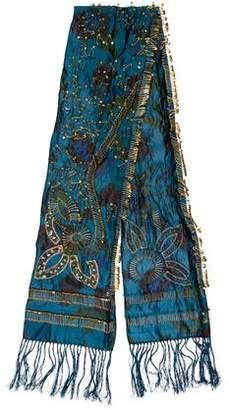 Dries Van Noten Embellished Silk Scarf