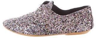 Anniel Glitter Round-Toe Oxfords
