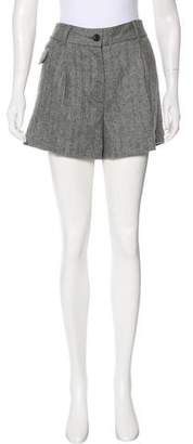 Elizabeth and James Wool Herringbone Shorts