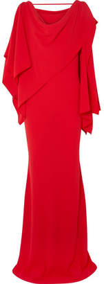 Gareth Pugh Draped Crepe Gown - Red