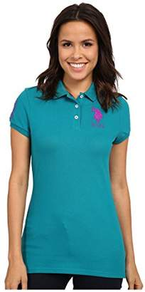 U.S. Polo Assn. Junior's Neon Logos Short Sleeve Polo Shirt