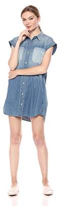 Hudson Jeans Women's Sleeveless Denim Shirt Dress
