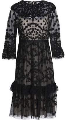 Needle & Thread Embellished Ruffled Tulle Dress