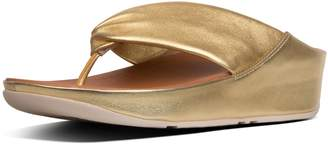 FitFlop Twiss Metallic Leather Toe-Thongs