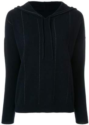 N.Peal cashmere Chain embellished hooded sweater