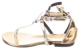 Barbara Bui Metallic Thong Sandals