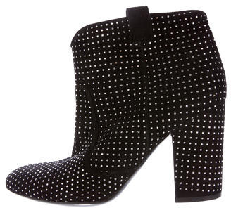 Laurence Dacade Studded Suede Ankle Boots $295 thestylecure.com