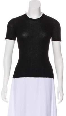 Agnona Cashmere Short Sleeve Top
