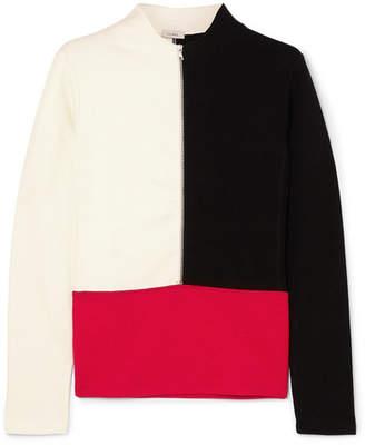 Vaara - Ariel Thermal Color-block Knitted Top - Ivory
